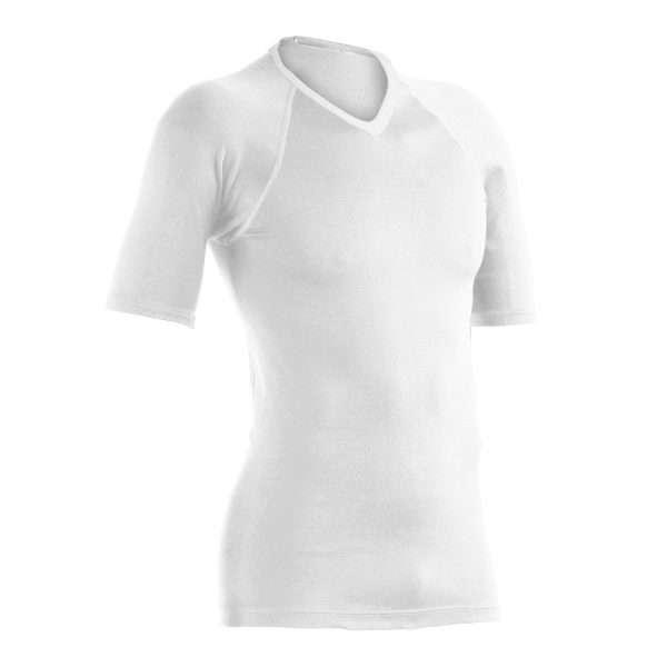 White V neck Polypro Top