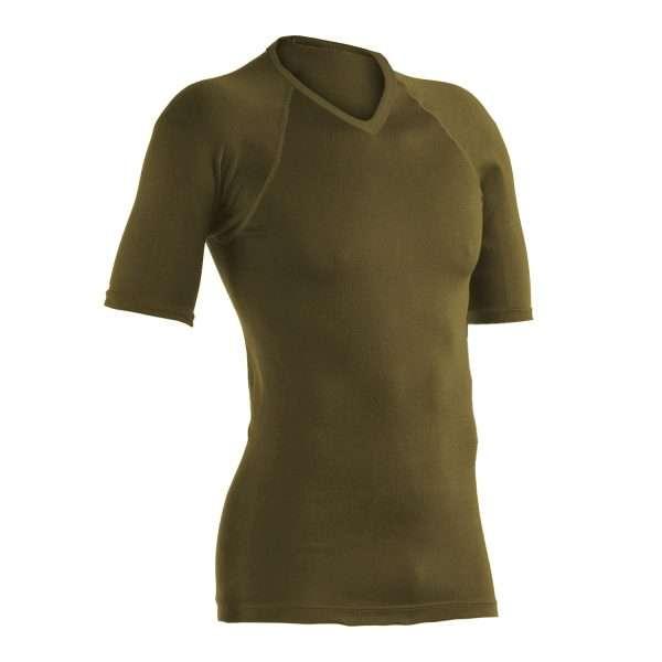 Army V neck Polypro Top